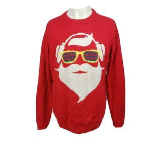 Ugly Christmas Sweater Light Up Santa Sunglasses